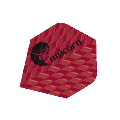 Unicorn - Unicorn Q.100 Ribbed Dart Flights Red - Mad On Darts -  Flights
