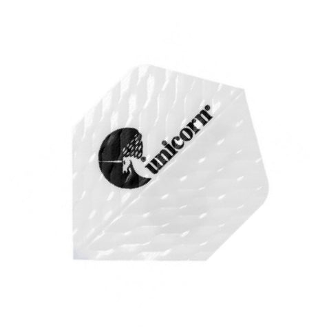 Unicorn Q.100 Ribbed Dart Flights White