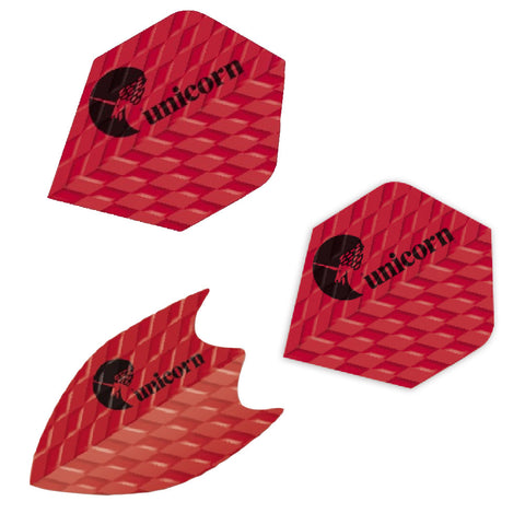 Unicorn - Unicorn Q.75 Ribbed Darts Flights Red - Mad On Darts -  Flights