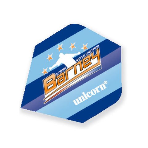 Unicorn - Unicorn Authentic .125 Barney 5 Time Dart Flights Blue - Mad On Darts -  Flights