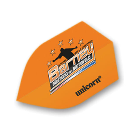 Unicorn - Unicorn Authentic .125 RVB Barney Orange Shield Dart Flights - Mad On Darts -  Flights