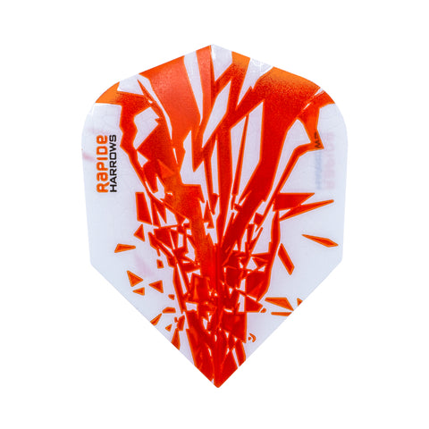 Harrows - Harrows Rapide Darts Flights Orange - Mad On Darts -  Flights