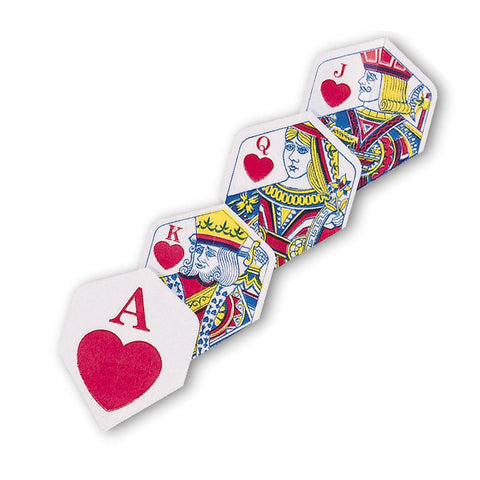 Unicorn - Unicorn Core .75 Hearts Royal Flush Dart Flights - Mad On Darts -  Flights