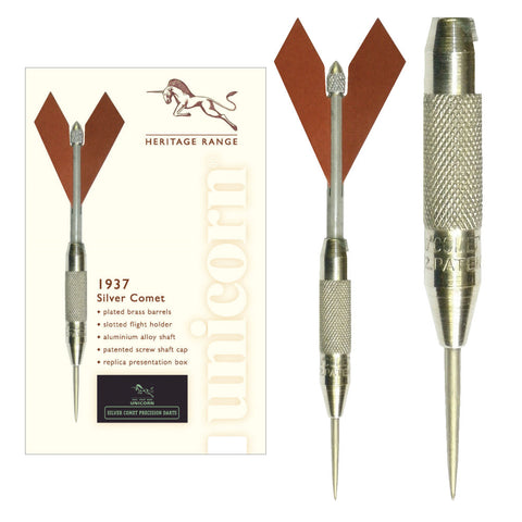 Unicorn - Unicorn 1937 Silver Comet Steel Tip Darts - Mad On Darts -  Darts Sets
