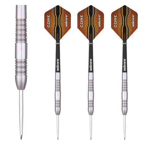 Unicorn - Unicorn Core XL Striker 22g II Steel Tip Darts - Mad On Darts -  Darts Sets