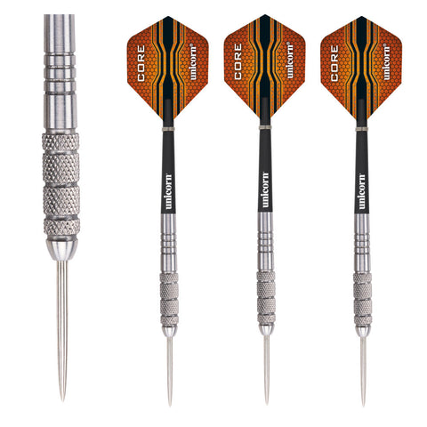Unicorn - Unicorn Core XL Striker 23g Steel Tip Darts - Mad On Darts -  Darts Sets