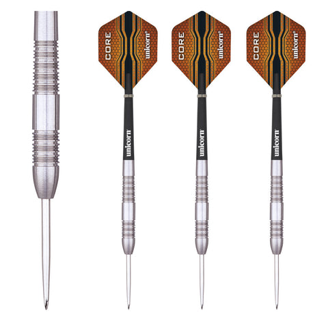 Unicorn - Unicorn Core XL Striker 24g Steel Tip Darts - Mad On Darts -  Darts Sets