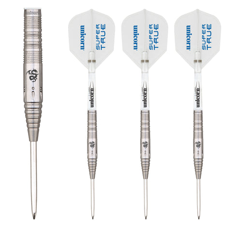 Unicorn - Unicorn Super True White Steel Tip Darts - Mad On Darts -  Darts Sets