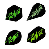 Unicorn - Unicorn Authentic .100 The Power Dart Flights Black/Green - Mad On Darts -  Flights