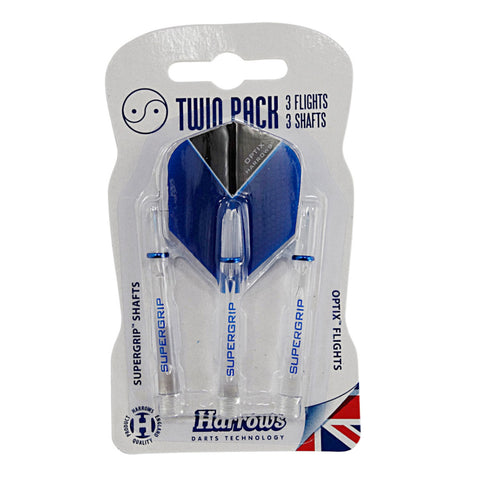 Harrows - Harrows Flight & Stem Twin Pack - Clear - Mad On Darts -  Other Accessories