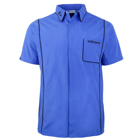 Unicorn - Unicorn Mens Teknik Dart Shirt Blue Black - Mad On Darts -  Dart Shirts