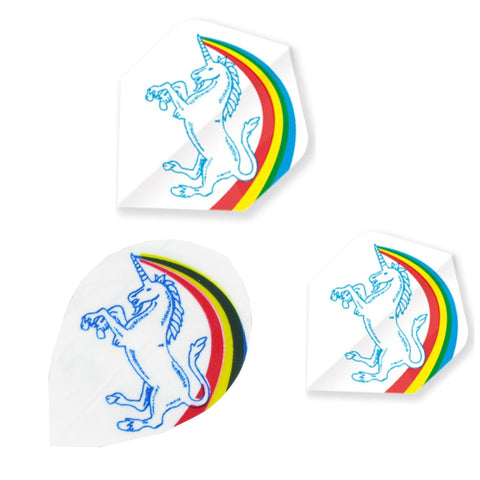 Unicorn - Unicorn Core .75 Unicorn Logo Darts Flights White - Mad On Darts -  Flights
