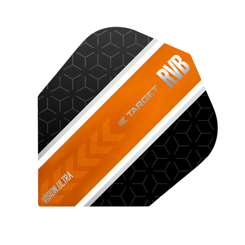 Target - Target Vision.Ultra Raymond van Barneveld Orange Stripe Dart Flights - Mad On Darts -  Flights