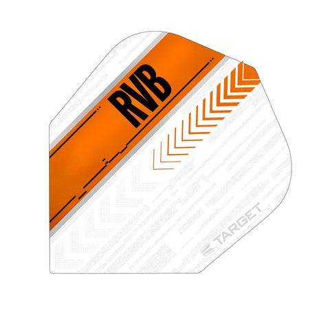 Target - Target Vision.Ultra RVB Dart Flights White Orange - Mad On Darts -  Flights