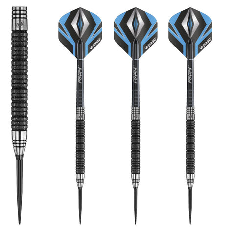 Winmau - Winmau Black Diamond 90% Steel Tip Darts - Mad On Darts -  Darts Sets