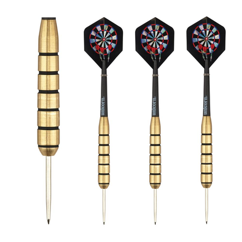Unicorn - Unicorn Gary Anderson Gold Medal Brass 27g Steel Tip Darts - Mad On Darts -  Darts Sets