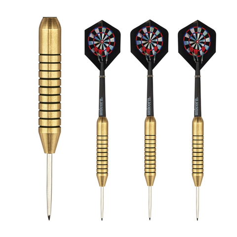 Unicorn - Unicorn Gary Anderson Gold Medal Brass 29g Steel Tip Darts - Mad On Darts -  Darts Sets