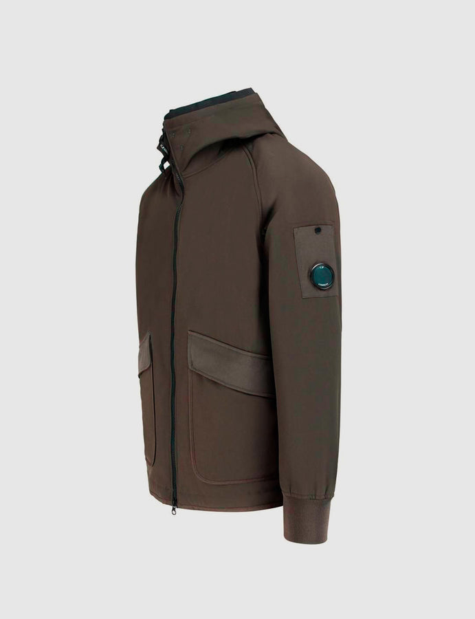 C.P. Soft Shell Utility Full Zip Lens Hooded Jacket