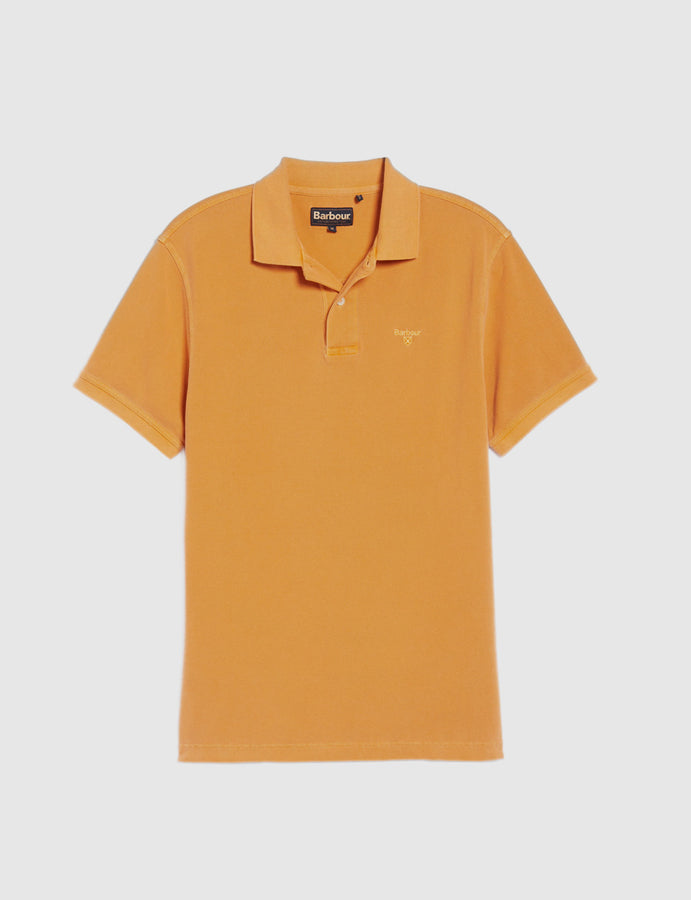 Barbour- Washed Sports- Polo-manica corta-arancio-reverse clothing store-perugia-umbria
