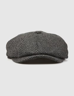 BARBOUR -Herringbone- Baker Boy Hat-peaky blinders-reverse clothing store-perugia-foligno-umbria