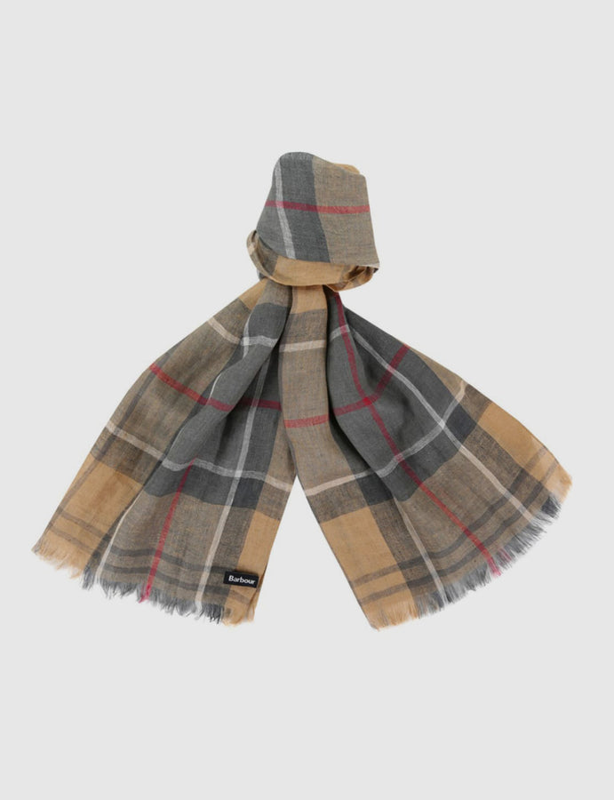 Barbour- tartan- Linen- Scarf- Lifestyle -accessories- reverse clothing store-perugia-umbria