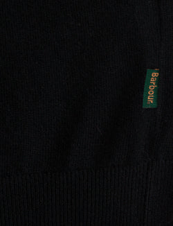 Barbour- Harrow-V Neck-maglione-nero-lana-cashmere-lifestyle- reverse clothing store-perugia-umbria