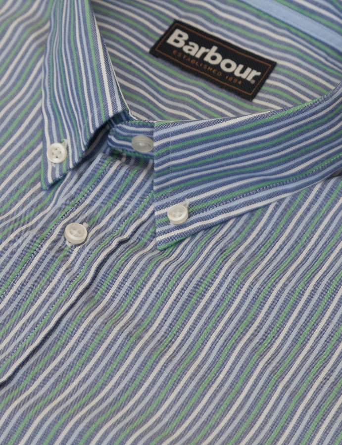 Barbour- B127- Green Stripe- shirt-camicia a righe-sport-casuals-lifestyle-reverse clothing store-perugia-umbria
