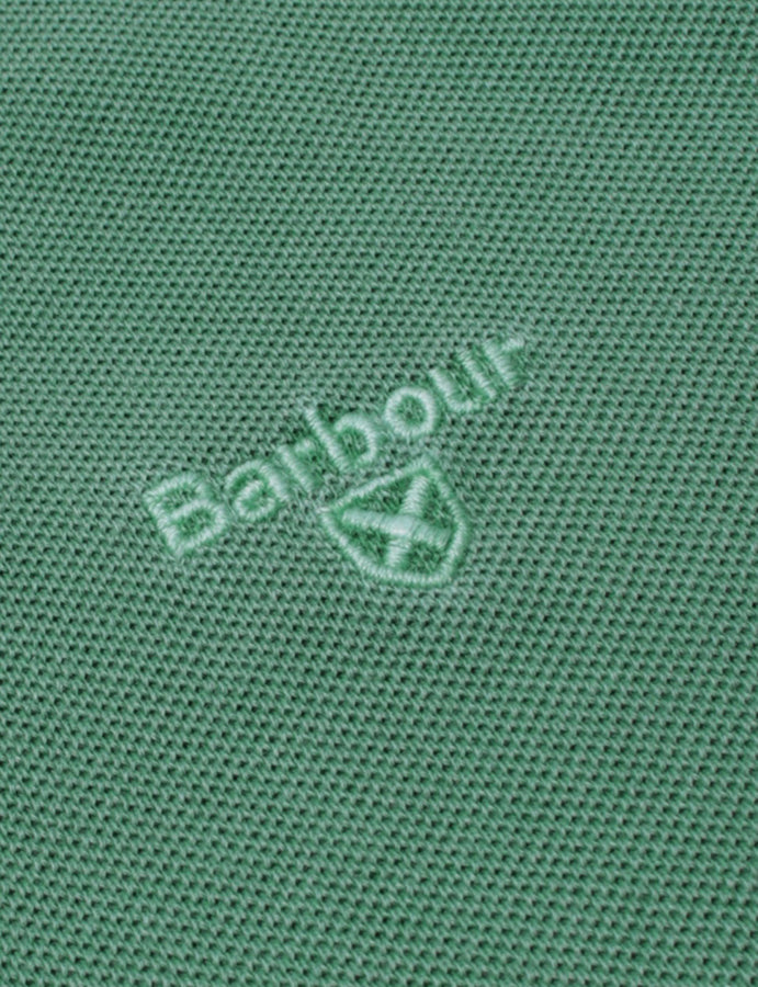 Barbour- Washed Sports Polo-core essentials-turf- green-reverse clothing store-perugia-umbria
