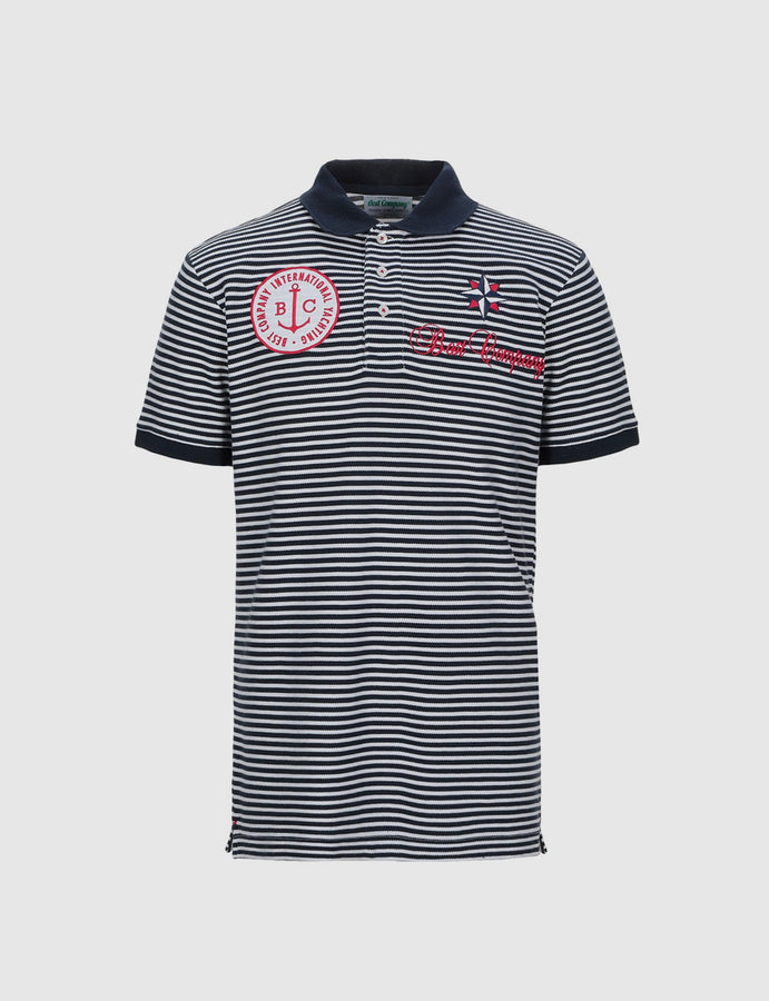 new-best company-sailor-olmes carretti-polo-tre bottoni-3 bottons-stripes-righe-estate-reverse clothing store-perugia-umbria