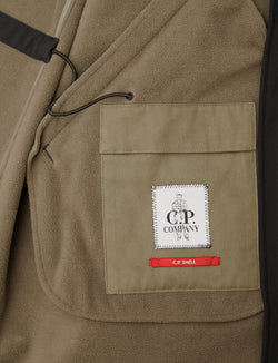 C.P Company -Soft Shell- Parka- nero- long jacket-black-antipioggia-reverse clothing store-perugia-foligno-umbria
