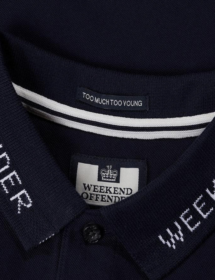 Polo- Weekend Offender- Degale -SS19-navy-dove-casuals-reverse clothing store-perugia-umbria