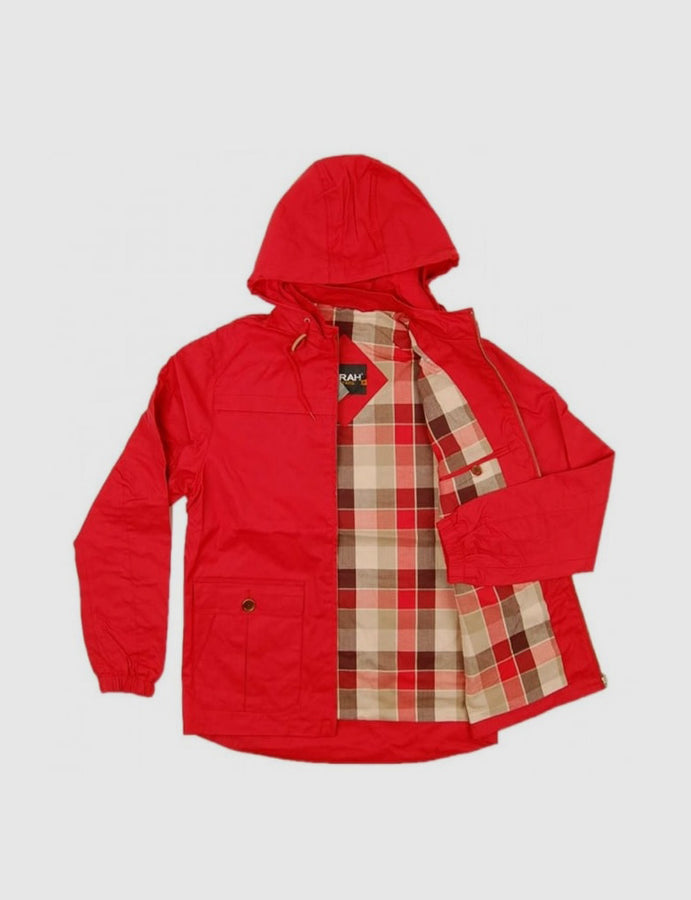Farah Vintage-menswear-Buxton-red-mod-casual-parka-reverse clothing-store-perugia-umbria