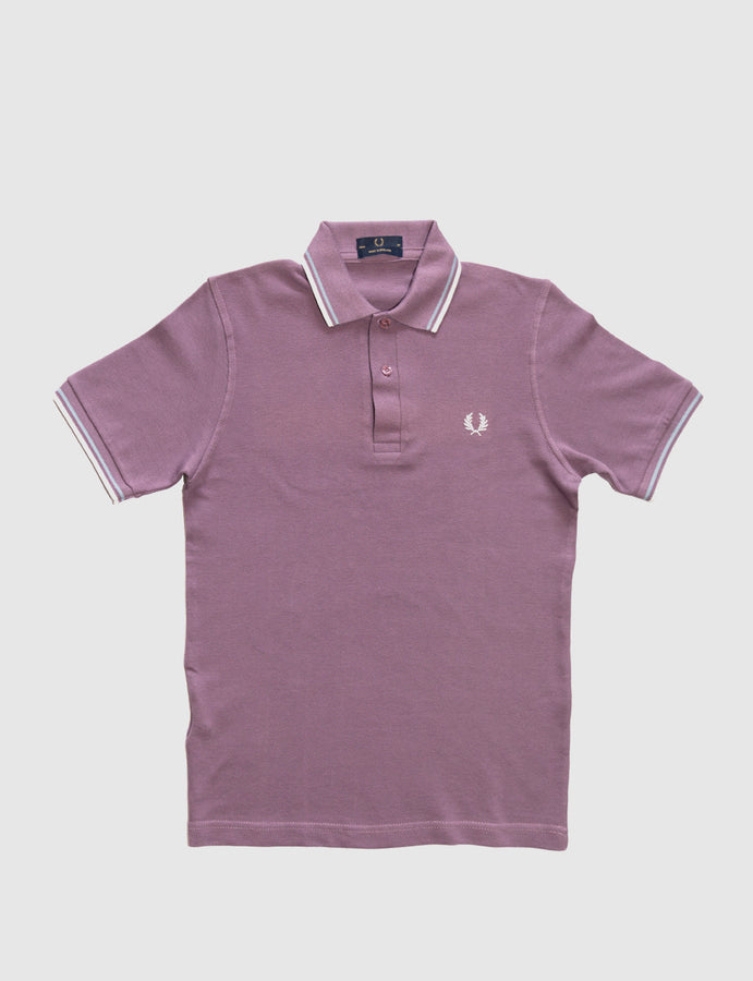 Fred Perry -Twin Tipped Polo-m12-made in england-black plum-reverse clothing store-perugia- umbria