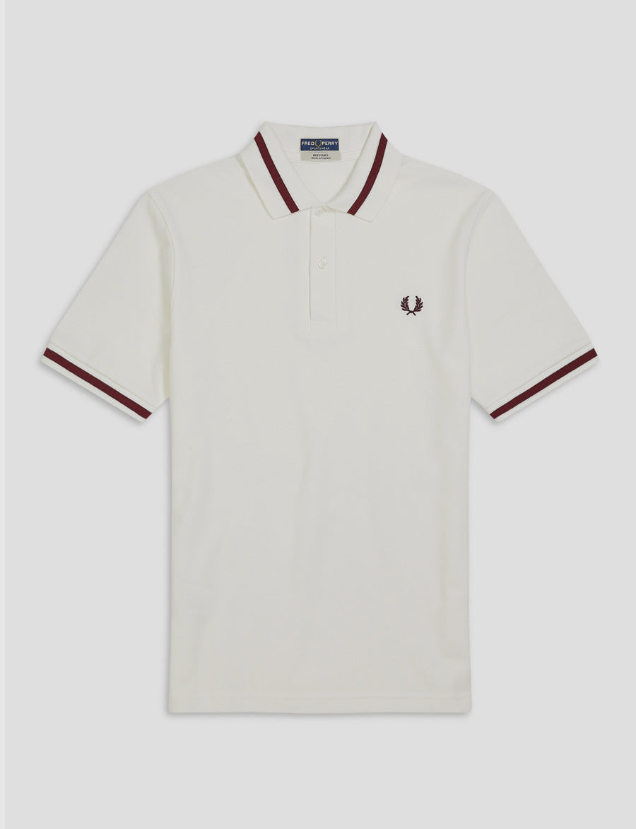 Fred Perry -Reissues- white-M2 Polo-manica corta-Bianco-casuals-reverse clothing store-perugia-umbria