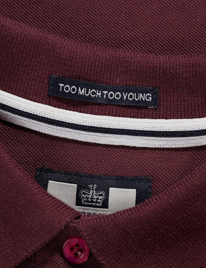 Polo- Palvetti -Damson- Weekend Offender-dove logo-casuals-admit nothing-reverse clothing store-perugia-umbria
