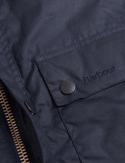 Barbour-Reelin-Wax-Jacket-navy-waterproof-giacca cerata-blu-antipioggia-style-reverse clothing store-perugia-umbria
