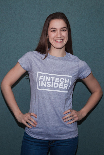Fintech Insider Ladies Grey T-Shirt