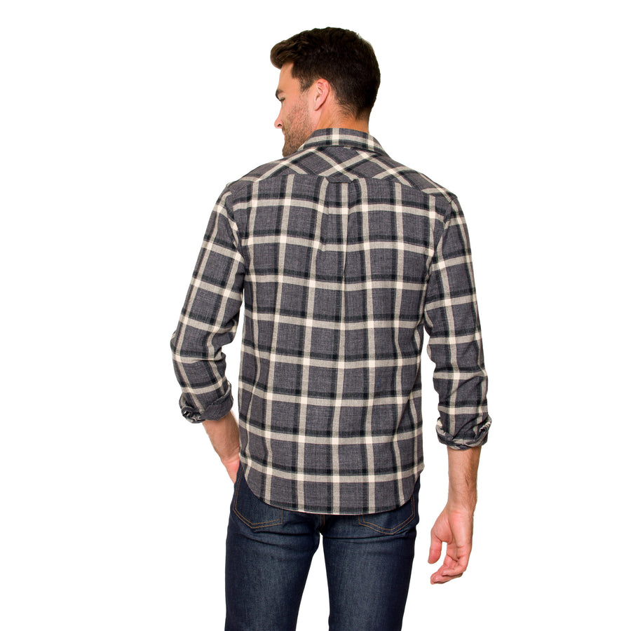 Jack Long Sleeve Button Down - Smoke Grey Checkered
