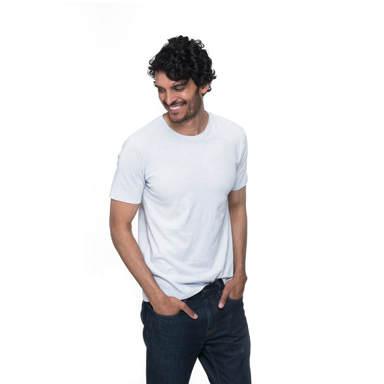 Front view of model wearing Henry in milkshake