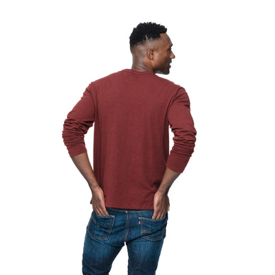 Back view of Adam in Sangria