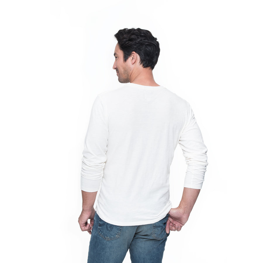 Adam Long Sleeve Tee - Capri Cream