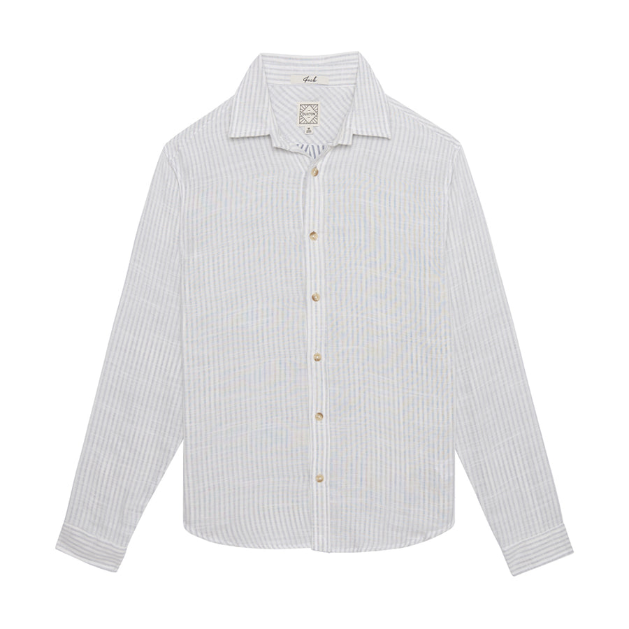 Jack Long Sleeve Button Down - Ghost White
