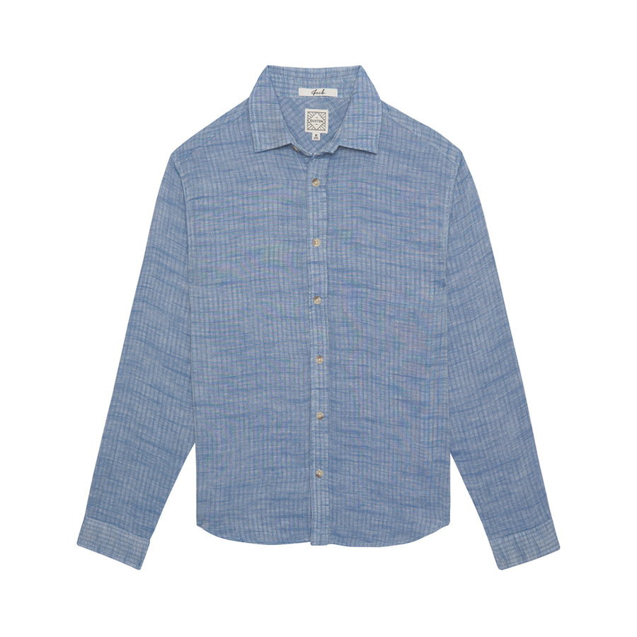 Jack Long Sleeve Button Down - Light Steel Blue