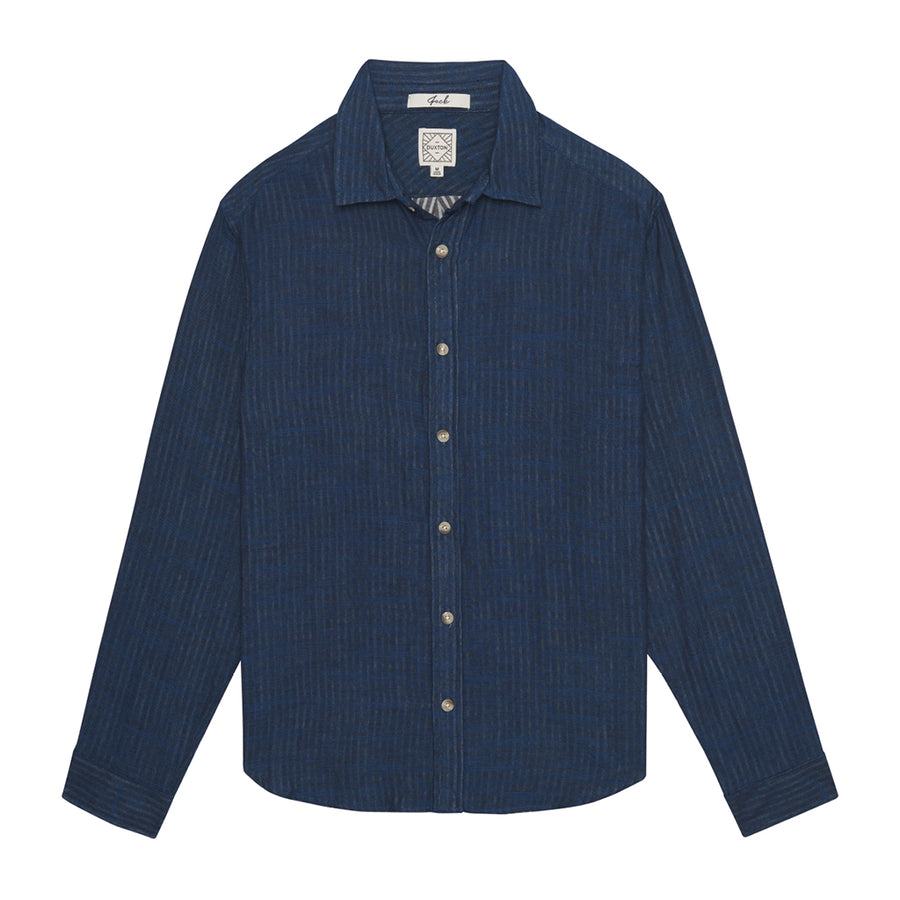 Jack Long Sleeve Button Down - Midnight Blue