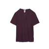 Justin Short Sleeve Henley in Eggplant
