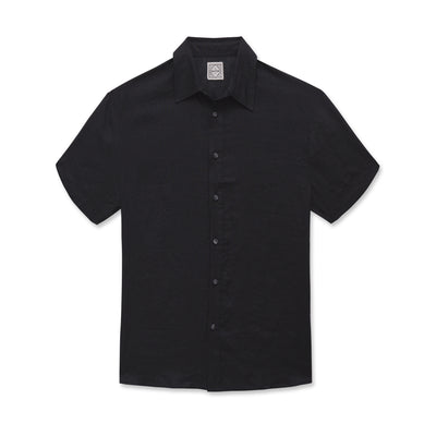 Linen Button Down Black