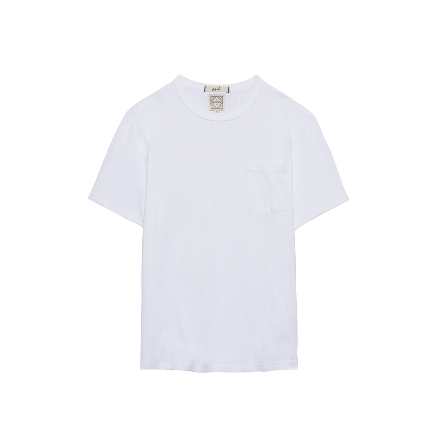 Rich short sleeve pocket Tee - White Sands