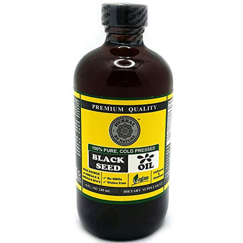 Black Seed Oil Cold Pressed - 100% Pure, Premium Quality - Organic Herbal by Nature