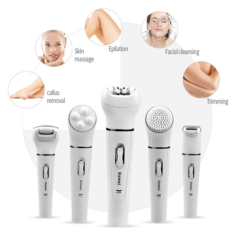 5-in-1 Epilator Shaver Device