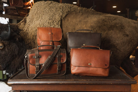Full and top grain leather pieces are a great, lasting alternative to genuine leather bags.